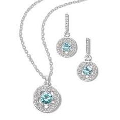 Baby Blues Necklace and Earring Set