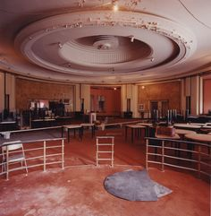 Round Room - old restored to new again Eaton College, Private Dining Room, Auditorium, Toronto, Restoration, Art Deco, Lounge, Restaurant, Flooring
