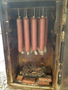 Our yearly ritual of making our own venison salami. Salami Recipes, Jerky Recipes, Venison Recipes, Sausage Recipes, Deer Recipes, Wild Game Recipes, Venison Kielbasa Recipe, Homemade Smoker, Deer Meat