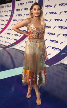 I don't usually like the sheer trend but #bestdressed is Paris Jackson at MTV Video Music Awards 2017