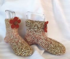Slipper Socks Handmade Crochet Unisex  Adult by SewDarnComfy, $22.50