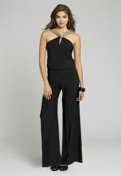 Black V Neck Half Sleeve Wide Leg Jumpsuit | Rompers, Denim ...