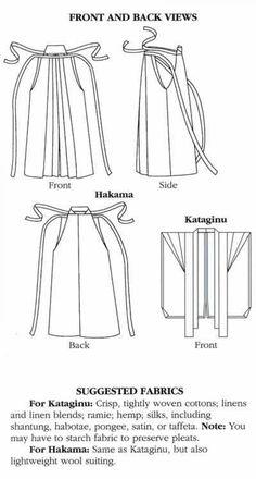 Folkwear Japanese Hakama and Kataginu Sewing Pattern #225 (purchase)