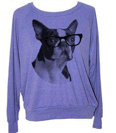 Womens BOSTON TERRIER sweatshirt  american apparel by skipnwhistle, $27.00