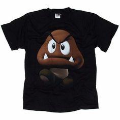 Men`s Clothing Super Mario Bros 3D Goomba Black T-Shirt Super Mario Bros 3D Goomba Black T-ShirtBold and bubble--shaped modern videogame print. A mean-looking Goomba strides forward with a frown and evil fanged face!Short sleeve 100% Cotton t-shirt http://www.comparestoreprices.co.uk/t-shirts/mens-clothing-super-mario-bros-3d-goomba-black-t-shirt.asp