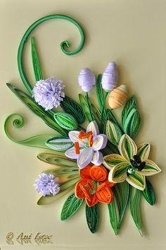 Printre hobby-uri: quilling, kusudama, origami, bijuterii handmade...: Quilling - Summer flowers
