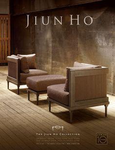 Jiun Ho/French Collection - Chambord Tete-a-Tete/Chair & Ottoman
