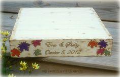Fall Leaves PLATFORM Wedding Cake Stand by MinSvenskaLandgard, $79.00