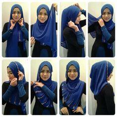 Tutorial Hijab Pashmina Siffon