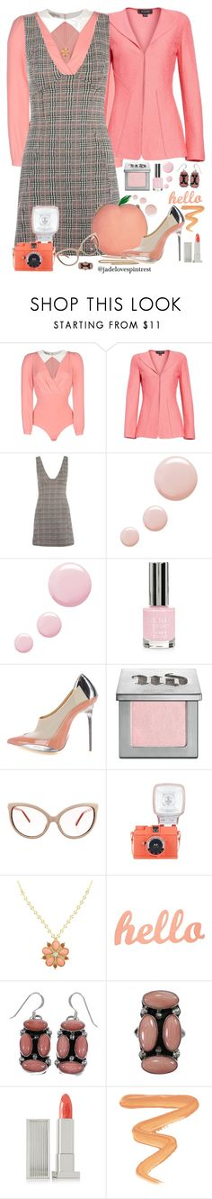 """🍑Pretty As A Peach🍑"" by jadelovespintrest ❤ liked on Polyvore featuring Betty Blue, St. John, Topshop, Balenciaga, Urban Decay, Linda Farrow, 1928, Lipstick Queen and Charlotte Tilbury"
