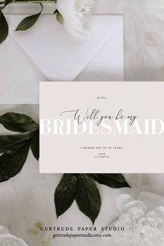 Bridesmaid Gift Boxes, Bridesmaid Proposal Cards, Be My Bridesmaid Cards, Will You Be My Bridesmaid, Bridal Shower Invitations, Wedding Stationery, Dream Wedding, Pool Wedding, Wedding Bride