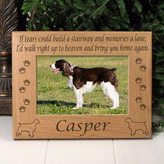 English Springer Spaniel If Tears Poem Dog Memorial Frame