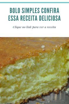 Cake Recipes, Dessert Recipes, Desserts, Cornbread, Vanilla Cake, Coco, Cupcake Cakes, Food And Drink, Banana