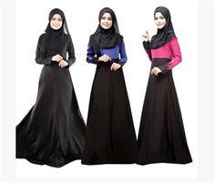 2015 New Long Dress for Muslim Abaya Islamic Abayas Plus Size islamic Clothing New Dubai Kaftan Dress Muslim #Islamic clothing New Long Dress, Hijab Abaya, Mode Abaya, Muslim Dress, Muslim Hijab, Islamic Clothing, Arab Clothing, Modest Clothing, Maxi Robes