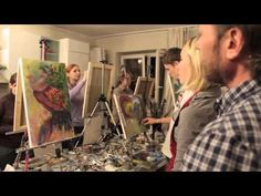▶ Intuitive painting. lesson from Igor Sakharov - YouTube This is in Russian but still amazing to Watch.  Thank You Igor Sakharov, Thank you!