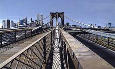 """Brooklyn Bridge,"" 1993, Richard Estes."