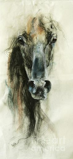 #Horse Art: Benedicte Gele (Dunway Enterprises)…