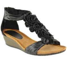 Fashion Thirsty WOMENS LADIES SUMMER SANDALS STRAPPY FLOWER LOW HEEL FLAT WEDGE SHOES SIZE (UK 7, Black Faux Leather No description (Barcode EAN = 5054031050690). http://www.comparestoreprices.co.uk/december-2016-4/fashion-thirsty-womens-ladies-summer-sandals-strappy-flower-low-heel-flat-wedge-shoes-size-uk-7-black-faux-leather.asp