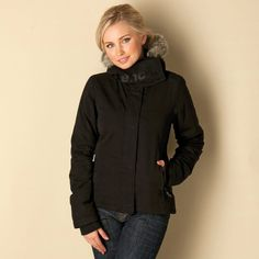 This lined jacket is perfect for when the colder weather starts creeping in. With a faux fur trimmed hood you can keep warm in style without breaking the bank. Womens Bench Wall Jacket in black. A size small measures 23 from shoulder to front hemline, and it measures 26.5 from the neckline to the back hemline. | eBay!