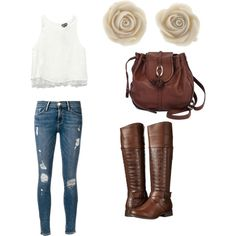 going shopping by issa-all-the-way on Polyvore featuring polyvore fashion style Wet Seal Frame Denim Wanted Brighton