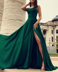 Dark Green Prom Dresses, Open Back Prom Dresses, Grad Dresses, Cheap Prom Dresses, Green Dress, Dark Green Long Dress, Dress Formal, Green Evening Dress, Prom Gowns