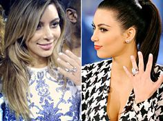 Kim Kardashian's Engagement Rings From Kanye West, Kris Humphries Compared!