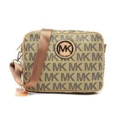 Michael Kors Jet Set Signature Medium Beige Crossbody Bags