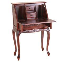 International Caravan Windsor Hand Carved Wood Secretary Desk & Reviews   Wayfair