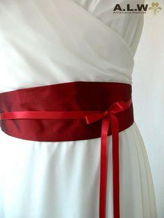 Gürtel aus Seide in Rot von alw-design auf DaWanda.com