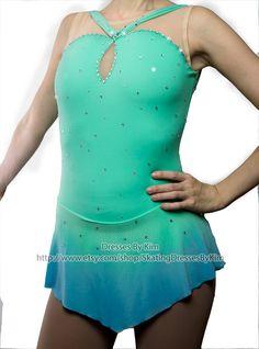 Figura de encargo vestido de patinaje por SkatingDressesByKim