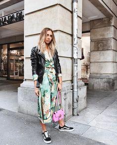 Zara kimono worn as a dress ❤️