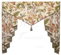 Choose from over 100 valance styles, then customize it to fit the shape and style of your windows and home. Design a beautiful window valance with FWT. Valance Window Treatments, Window Treatments Living Room, Custom Window Treatments, Window Coverings, Cornices, Cute Curtains, Curtains With Blinds, Window Curtains, Swag Curtains
