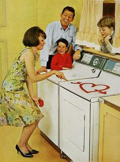 Getting the first dryer was a big day in the 1960s household!
