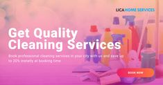 Get the quality cleaning services in Australia with 20% instant discount. Book cleaning services with #Lica_Home_Services today. ☎ 1300480092  #cheap_cleaning #cheapbondcleaning #professionalcleaning #qualitycleaning Best Bond, Professional Cleaning Services, Urban City, Pest Control, Brisbane, Australia, Books, Libros, Book