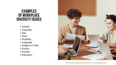 List of Diversity Issues   Examples of Workplace Diversity Issues in South Africa. South African businesses strive for diversity and inclusivity. They follow the guidance of policies like the Employment Equity Act and the BBBEE. Here are diversity issues that South African businesses have to deal with: Gender, Inequality, Age, Race, Disability, Language, Religion or Faith, Culture, Poverty, Education · Grade 12 Business Studies with Nonjabulo Tshabalala, South African Business Studies 16:9… Gender Inequality, Exam Papers, Business Studies, Information Graphics, Disability, Diversity, Workplace, South Africa, Religion