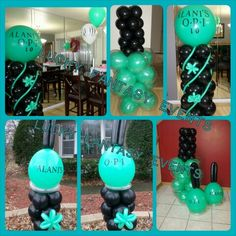 Nail Polish Balloon Decor Birthday Party Luckyfantasyevents Lfe Lucky Fantasy Events Www