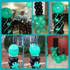 nail polish balloon decor birthday