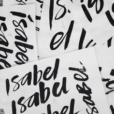 Brush lettering outtakes from some recent client work we'll be sharing soon. #clientlove
