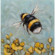Bumblebee painting, Reserved for Tish.