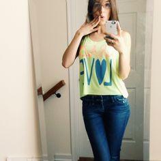 • Crazy Love TShirt • Crazy love NEON yellow tshirt.                                                             ❌ No trades ❌ No PayPal ❌ Tops