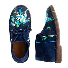 Kids' suede paint-splatter MacAlister boots - you wouldn't need to worry about these getting paint spills - clever