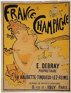 Pierre Bonnard, 1867-1947  Poster for France Champagne 1891  color lithograph  Virginia and Ira Jackson Collection,  Promised Gift to the National Gallery of Art