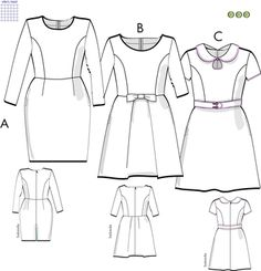 Swedish Sewing, Office Outfits, Dory, Peplum Dress, Sewing Patterns, Polyvore, Tyger, Dresses, Women