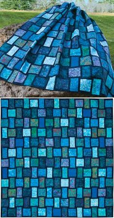Beautifully Simple pattern...I'd love to do this in Purple Batiks!!