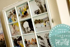 How to turn Vintage Windows into Picture Frames @ www.capturing-joy.com