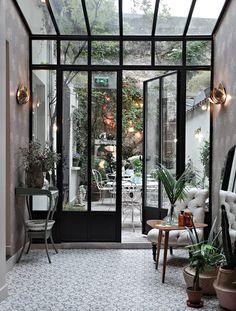 Paris Diaries : Hotel Henriette - Only Deco Love - Diy-gartenideens Decor, House Design, Glass House, House, Interior, House Inspiration, House Interior, Home Deco, Home Interior Design