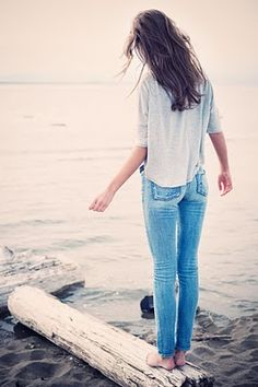 Fidelity Jeans + Casual top = easy couture