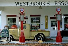 Old Esso gas station