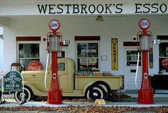 Old Esso gas station