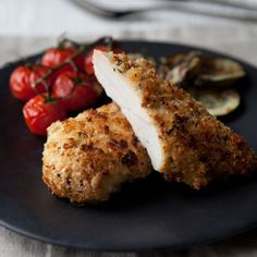 Crunchy Buttermilk Chicken with Balsamic Tomatoes and Courgettes - Woman And Home